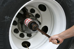 The Nut Buddy is a tool that can remove wheel nuts that have been over-tightened by an impact wrench.