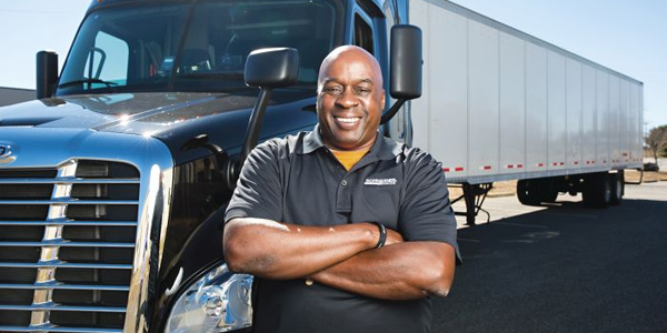 Of Schneider National's 13,000-plus drivers, more than 2,200 are owner-operators like Andy...