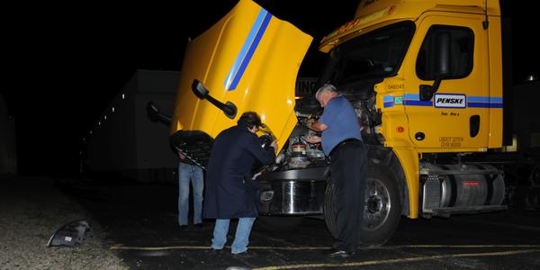 Truck-Lite's senior vice president and chief technology officer, Brad Van Riper, supervises the...
