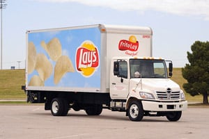 For years, Frito-Lay used 24-foot Class 6 straight trucks for urban grocery store deliveries. It recently found they could use a 20-foot Class 5 straight truck to do the same job, with a fuel savings of roughly 10 percent.