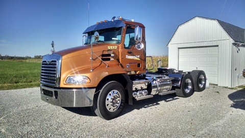 Elvin Knollman began buying Mack mDrives for his tanker fleet in 2011. Fuel economy improved by...