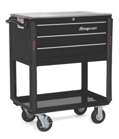 Snap-on's new KRSC10 Series Mobile Workstation has a stainless steel work surface that holds up to 600 pounds.