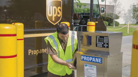 "Director of Fleet Procurement Mike Casteel says UPS has ""a lot of experience with propane..."