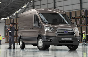 Refined full-size Transit van for Europe closely resembles the North American version that will enter production in Kansas City, Mo., late next year.
