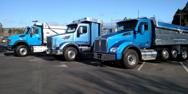 One thing for sure in the competition: A blue truck would win. Kenworth's T880 (at far right)...