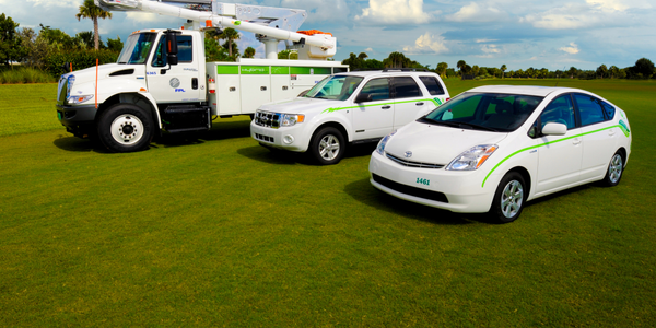 Florida Power & Light was the first utility to deploy a plug-in hybrid biodiesel electric bucket...