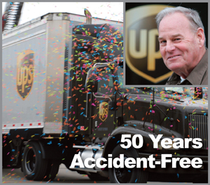 UPS Driver Ron Sowder recently celebrated 50 Years of accident-free driving for UPS.