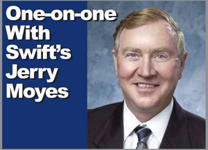 Jerry Moyes is the CEO and founder of Swift Transportation, the largest trucking company in the U.S.