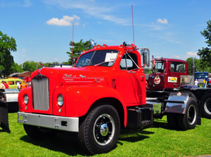McCauley was inspired by a driver who piloted a B-61 Mack with precision.