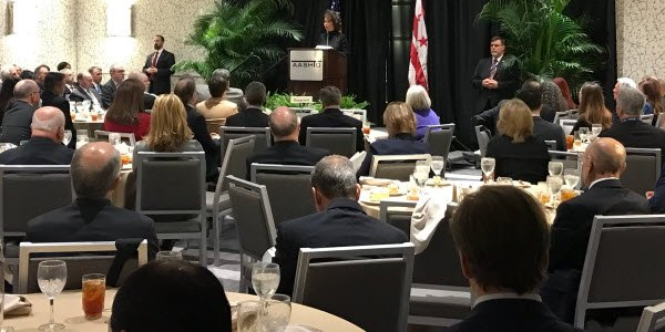 Secretary Chao addressing attendees of AASHTO meeting in Washington on Feb. 28. Photo: via...