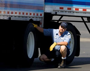 A driver's visual safety inspection of trailer components would be electronically aided and greatly speeded if a TMC idea becomes reality.