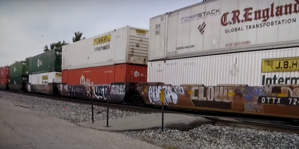 Double-stacked domestic containers make intermodal trains exceptionally productive, but the...