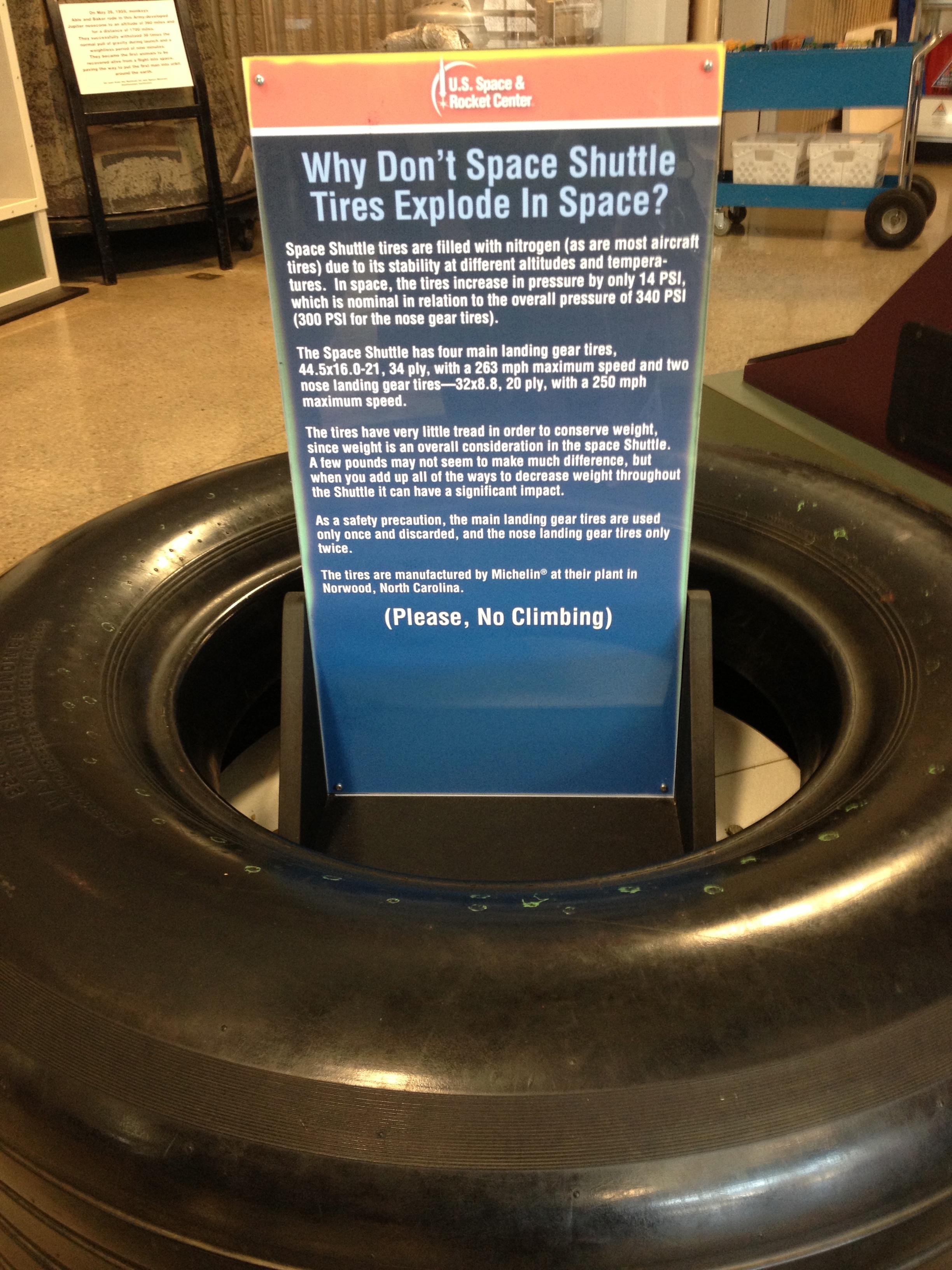 Nitrogen Tire Inflation: Good Enough for NASA