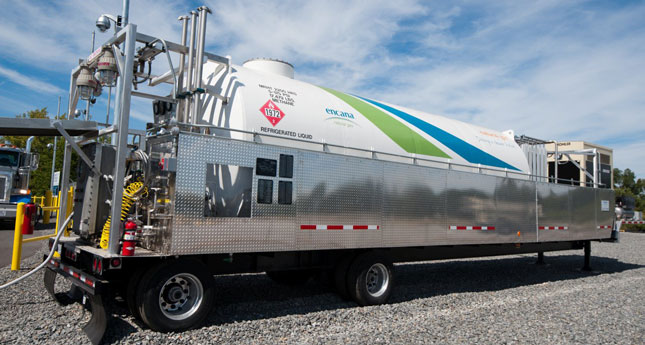 Encana Natural Gas Inc. can park a mobile fueling station right on your premises.