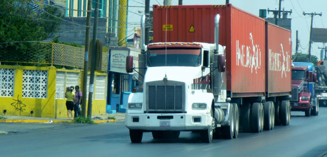 This shot by Porter Corn shows a Mexican truck in Monterrey, Mexico.
