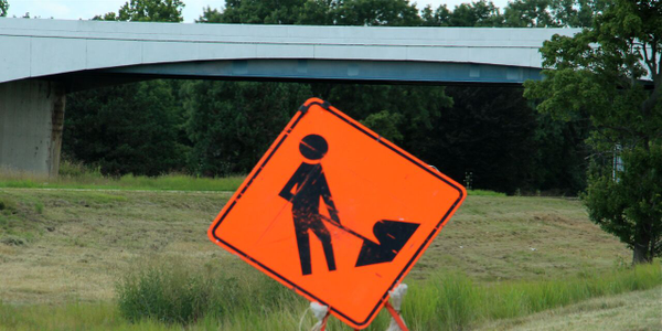 Road work ahead! Photo: Deborah Lockridge