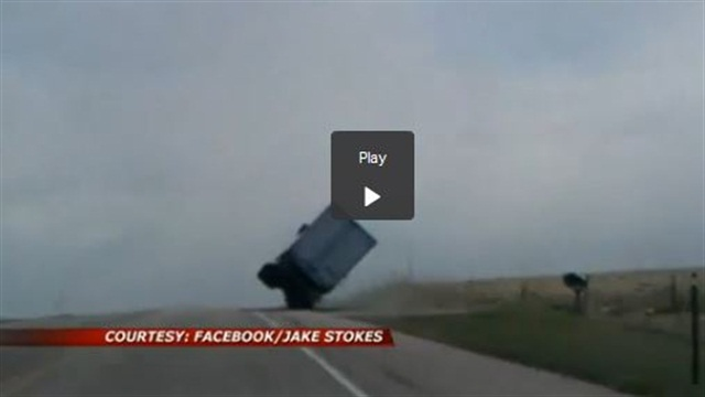 Skilled Driver Saves Semi from Being Blown Over