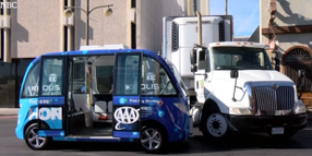 Truck Driver Gets the Blame in Driverless Shuttle Bus Crash