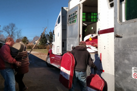 Special Vans Haul Horses from the Fairgrounds
