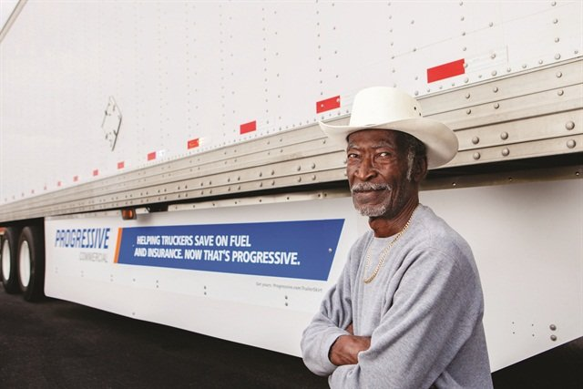 A good deal on trailer skirts plus money saved on fuel equals a smile on this trucker's face.