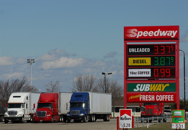 Low prices entice carriers into the pumper outlets that often don't offer full-service, sit-down restaurants.
