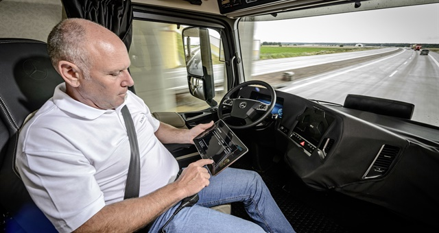 Autonomous technologies don't necessarily mean drivers won't still have a place in the truck. Photo: Daimler Trucks