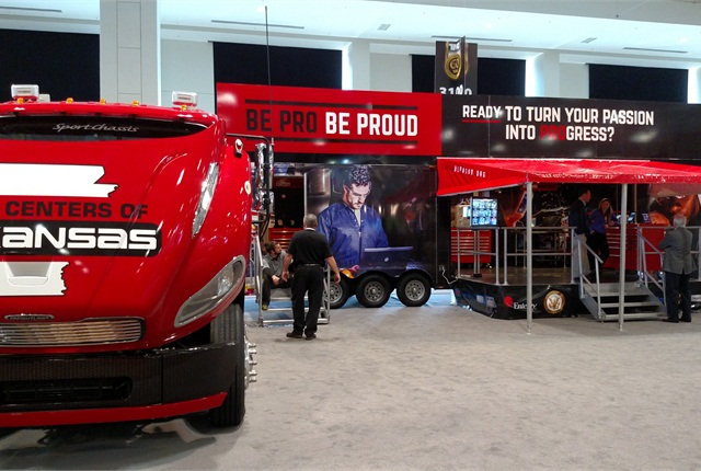 Be Pro, Be Proud rig was displayed in the equipment expo during TMC's annual meeting in Nashville last week. Photo: Tom Berg
