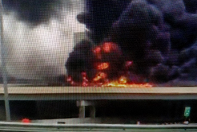 News report of a recent fatal tanker crash painted a sympathetic picture of the truck driver who was killed and explored the sometimes dangerous world of transporting hazardous materials. Photo:Tom Berg, from WCMH-TV news video