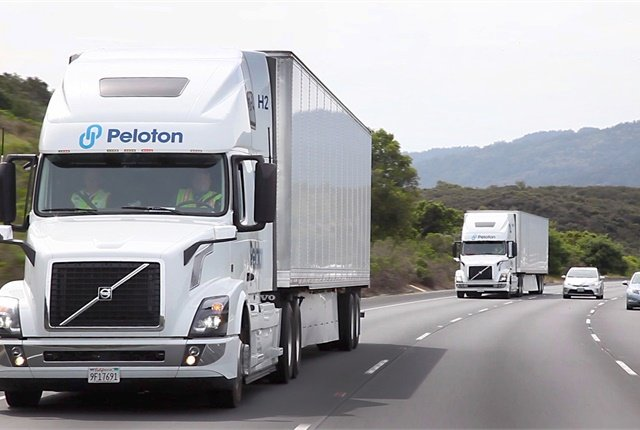Truck platoons may well be the way average Americans first see autonomous vehicle technology in the real world.Photo: Peloton