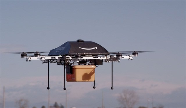 In the future, delivery drones may be added to the last-mile logistics mix as well. Photo: Amazon