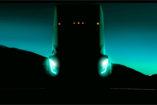 Tesla founder Elon Musk tweeted this image of his upcoming all-electric tractor during a TED talk in Vancouver on April 29. Source: Twitter