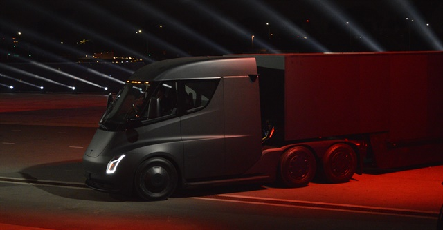 In many ways, the Tesla truck launch in California last week pointed the way toward trucking's future. Photo: Jack Roberts