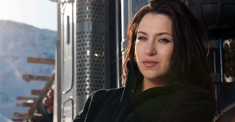 Maya Sieber, the new female face on Ice Road Truckers.
