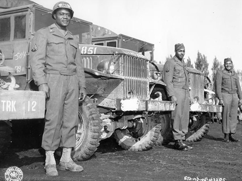 The Red Ball Express kept Allied troops supplied with food, ammunition and other vital supplies,...