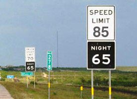 Texas DOT Removing Nighttime Truck Speed Limit Signs
