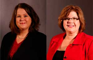 Erin Young (left) was promoted to vice president, account management and Lori Furnell was promoted to vice president, business development.