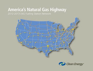 Clean Energy Unveils Backbone Network for Natural Gas Highway