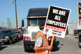 Port Trucking Company Ordered to Court Over Unfair Labor Practices