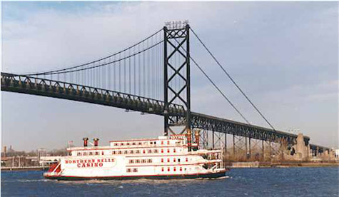 The current Ambassador Bridge, which is 80 years old, is the busiest border crossing in North America, handling 1.6 million truck crossings each year.
