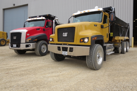 Axle-Forward Cat CT681 Vocational Truck in Full Production
