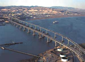 The increase by the Bay Area Toll Authority affects the following bridges: Bay, Benicia-Martinez (above), Richmond-San Rafael, San Mateo, Carquinez, Dumbarton and Antioch.
