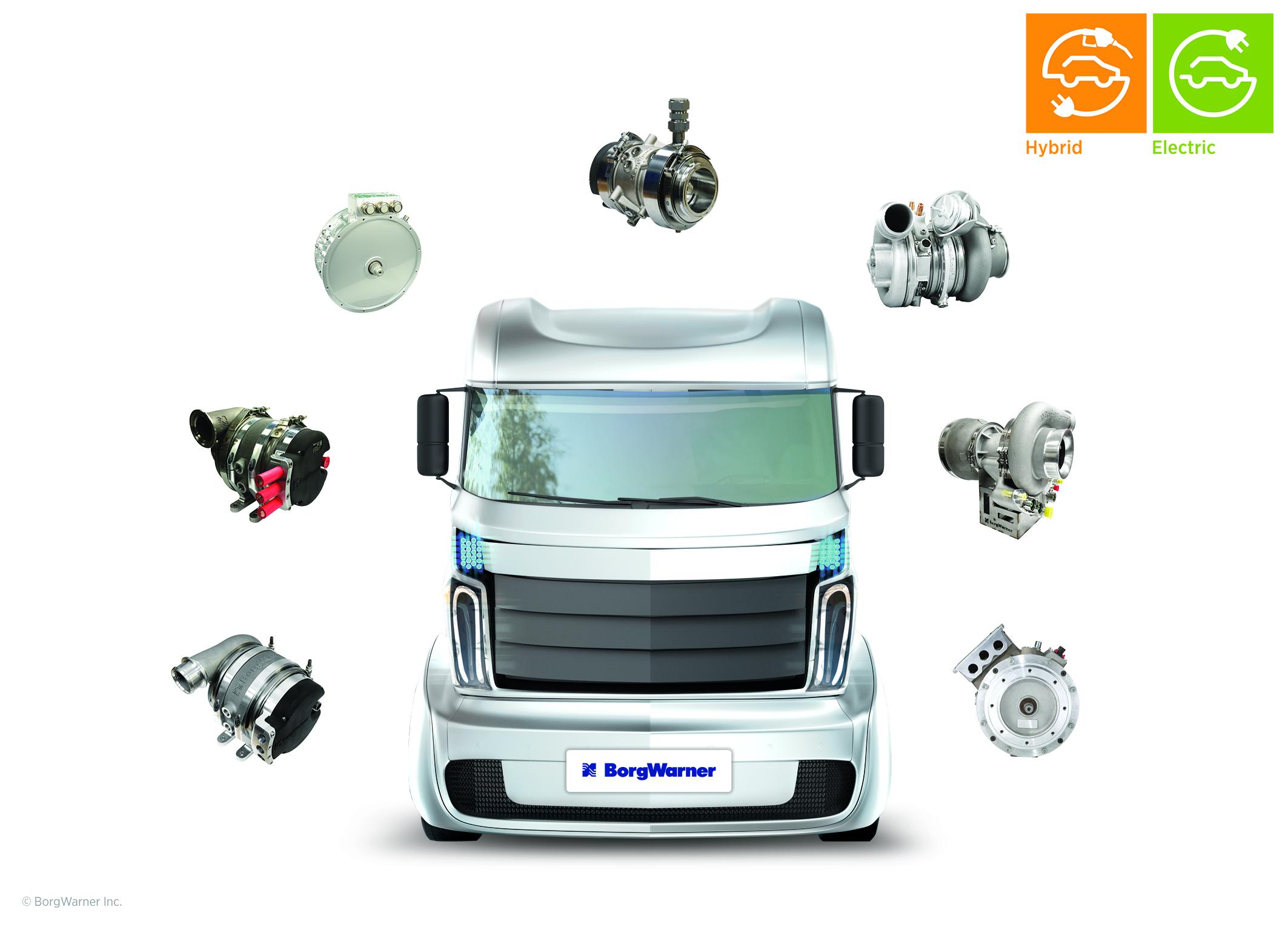 BorgWarner Talks Hybrids, Electric Trucks at NACV Show