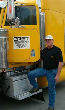 Larry Tachovsky has driven 5 years for CRST Malone.