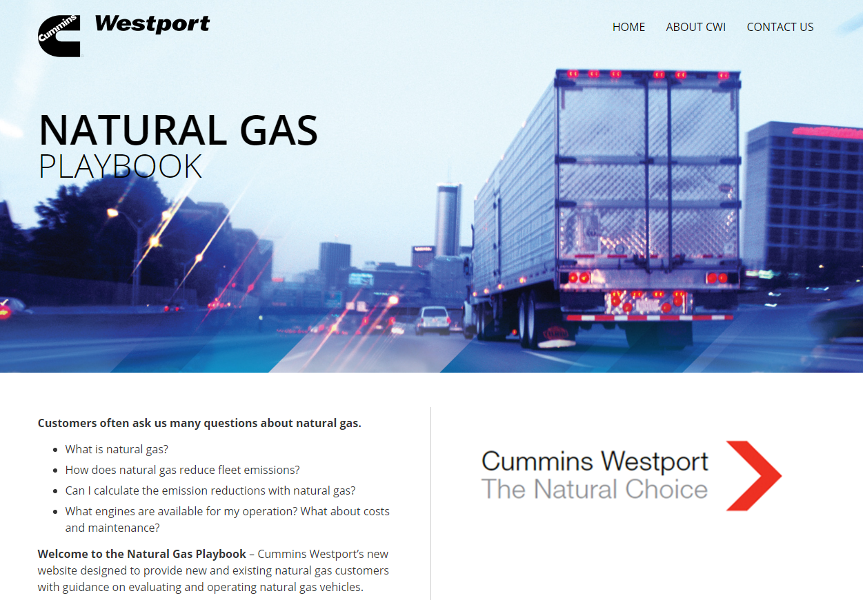 Cummins Westport 'Playbook' Offers Guidance on Natural Gas for Fleets