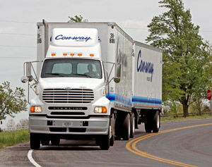 Con-way Freight expects the new initiative to reduce total operating miles by 16.6 million per year.