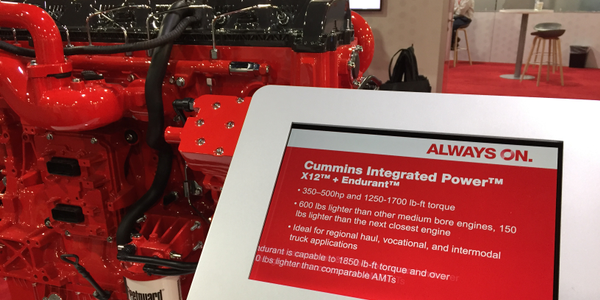 Cummins highlighted the new name at its booth at the Technology & Maintenance Council annual...