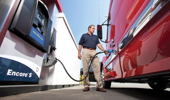 Fuel island dispensers of DEF like this one will be a major source of DEF for vocational fleets.