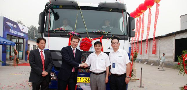 Demand in China will help drive growth in the global truck market. Daimler recently celebrated the handover of a Mercedes-Benz Actros at China Railway Logistics.