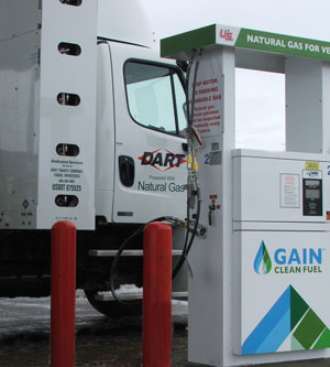 Dart launched a small fleet of CNG-powered tractors for Anderson Window Corp. A CNG fueling station was installed near Anderson's facility in Menomonie, Wis.