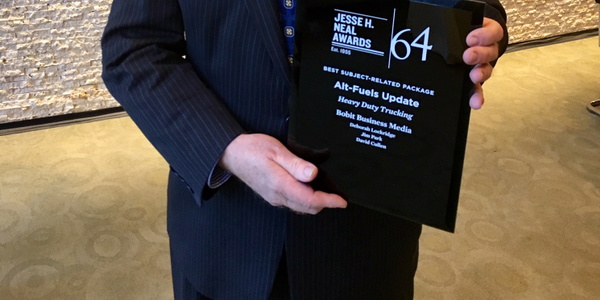 HDT Executive Editor David Cullen was on hand to receive the magazine's Neal Award for its...